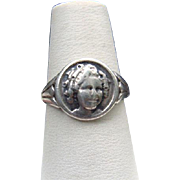 1930 Radio Premium Shirley Temple Sterling Silver Child's Ring