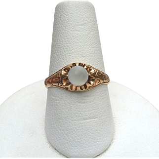 Antique Victorian Rose Gold MOONSTONE Ring