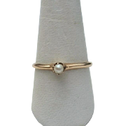 Early OSTBY BARTON 10K Rose Gold Pearl Ring