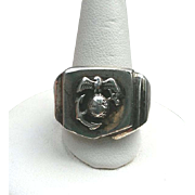 For CARL: WWII Sterling Marine USMC Insignia Ring EGA