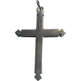 BOLD Vintage Sterling Cross Pendant