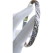 Felch & Co DANECRAFT Sterling Bangle Bracelet WHEAT