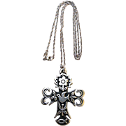 Retired JAMES AVERY Sterling Large LA PRIMAVERA Cross Necklace