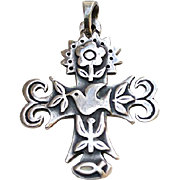 Retired JAMES AVERY Sterling La Primavera Cross Pendant