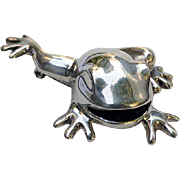 HEFTY Signed Sterling Tree FROG Pin