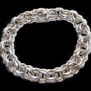 Vintage Sterling Silver DOUBLE Link Starter Charm Bracelet 23G