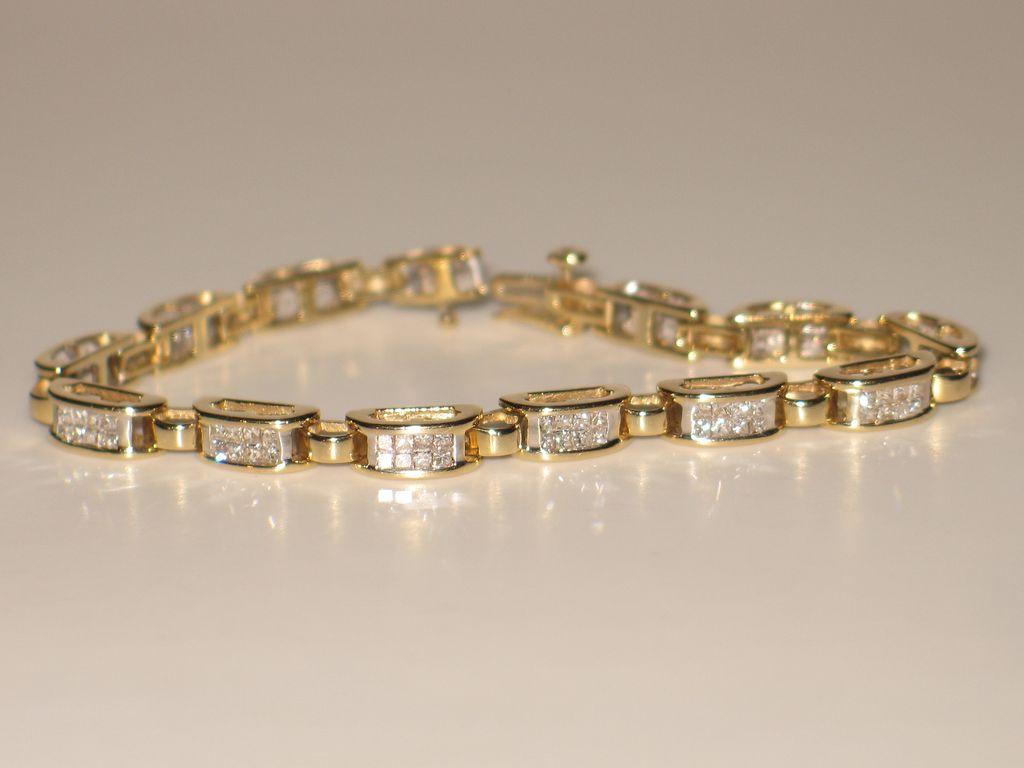 Princess Cut Diamond Bracelet
