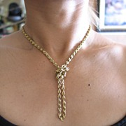 EXQUISITE Vintage Gold Chain/Necklace in 14k Yellow Gold.