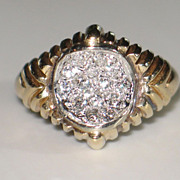 Diamond, Gold, and Platinum Vintage Ring. - Red Tag Sale Item