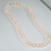 Vintage, Angel skin Natural Coral Necklace.