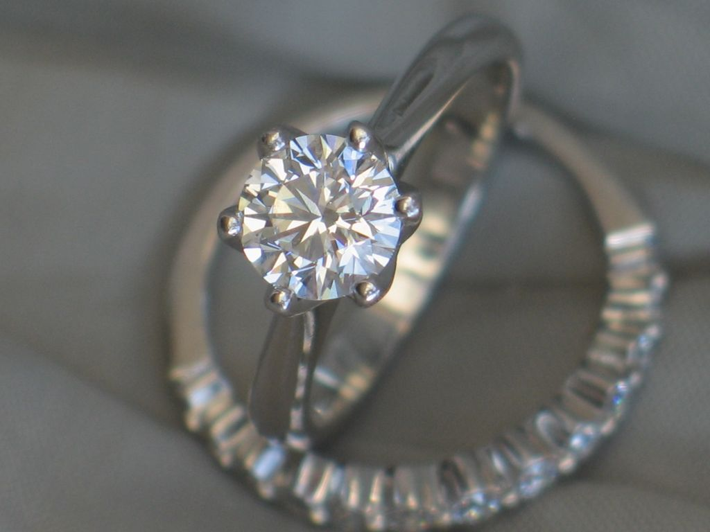 Estate Diamond Solitaire Engagement Ring in Platinum VS clarity I from short
