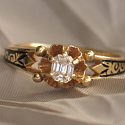 Antique Early-mid Victorian, Diamond and Gold Engagement Ring.