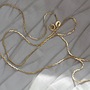 Vintage Italian gold chain.  14k yellow gold.