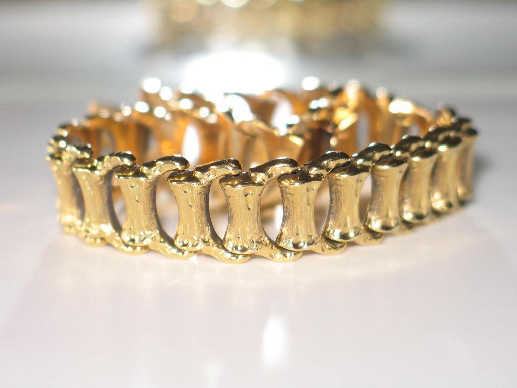 Vintage Italian Gold Bracelet 750 18k Yellow Awep Ruby Lane