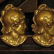 Antique Divine Fine.  Antique Gold Cufflinks, 14k Yellow Gold.
