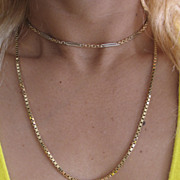 "18K Yellow Gold Chain.  Vintage ITALIAN Gold chain, 20"" long."