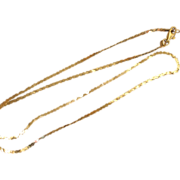 "Italian gold chain.  Vintage 14k Yellow Gold Chain 21"" long."