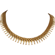 GORGEOUS 18k gold vintage necklace.