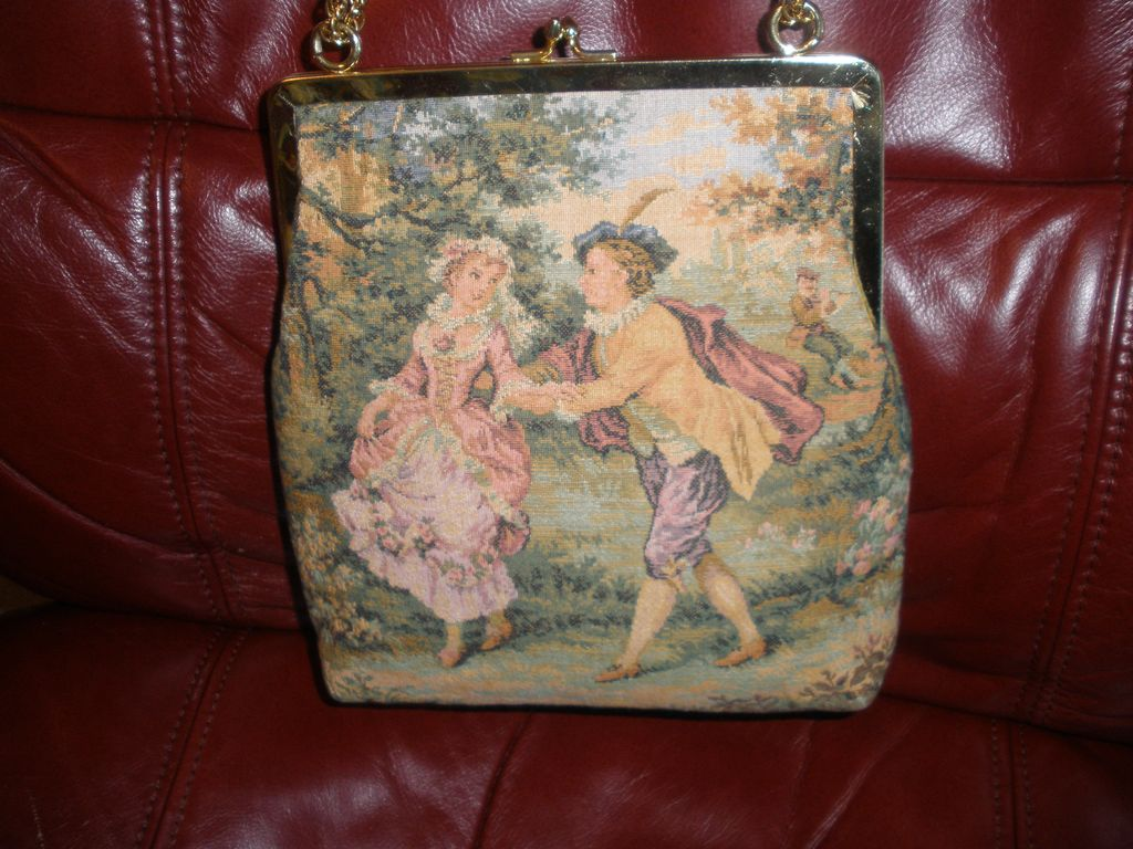 VINTAGE JR of Florida French petit point tapestry style ...