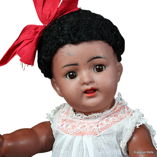 K*R 126 Bisque Toddler with Brown Complexion, Starfish Hands