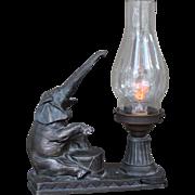 RARE G.O.P. Bronze lamp with Aerolux bulb c.1940