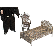 Antique Filigree Soft Metal Doll House furniture
