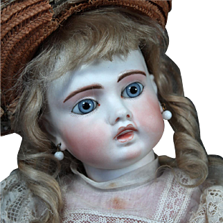 "Sonneberg Bru-Faced ""Belton"" Bisque Doll, 18"""