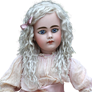 Helen ~ Light Ash Blond Mohair Wig No Bangs (Size 12-13)