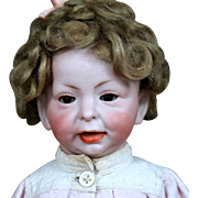"""Rare 11"""" K*R 100 Character Toddler with Glass Eyes, Wig"""