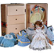1950's Painted Lash Ginny with Wardrobe