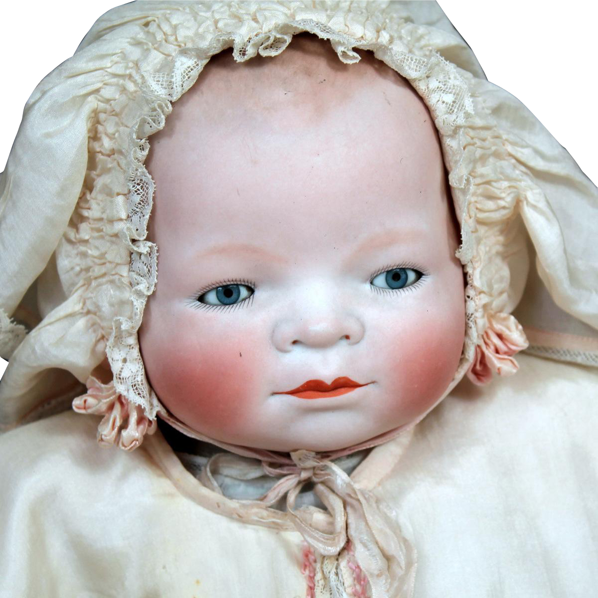"17"" Bye Lo Baby in Luxurious Antique Silk Costume"