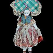 "5"" Dollhouse China in Original Regional Clothing"