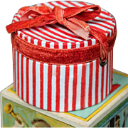 French Fashion Doll Candy Striped hatbox