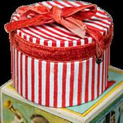 French Fashion Doll Candy Striped hatbox