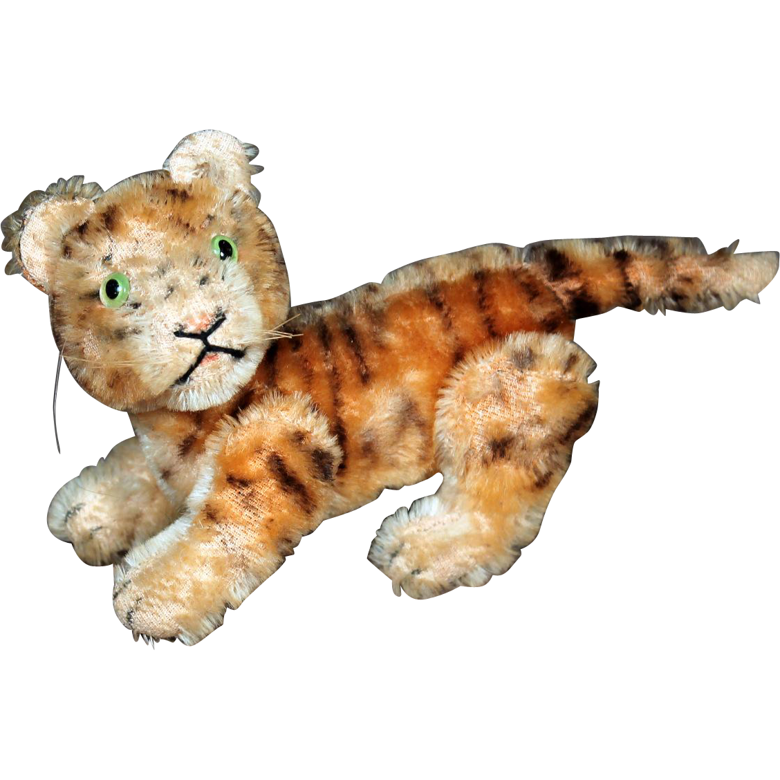 "HTF Steiff Five-Way Jointed Tiger,  4.25"" Tall"