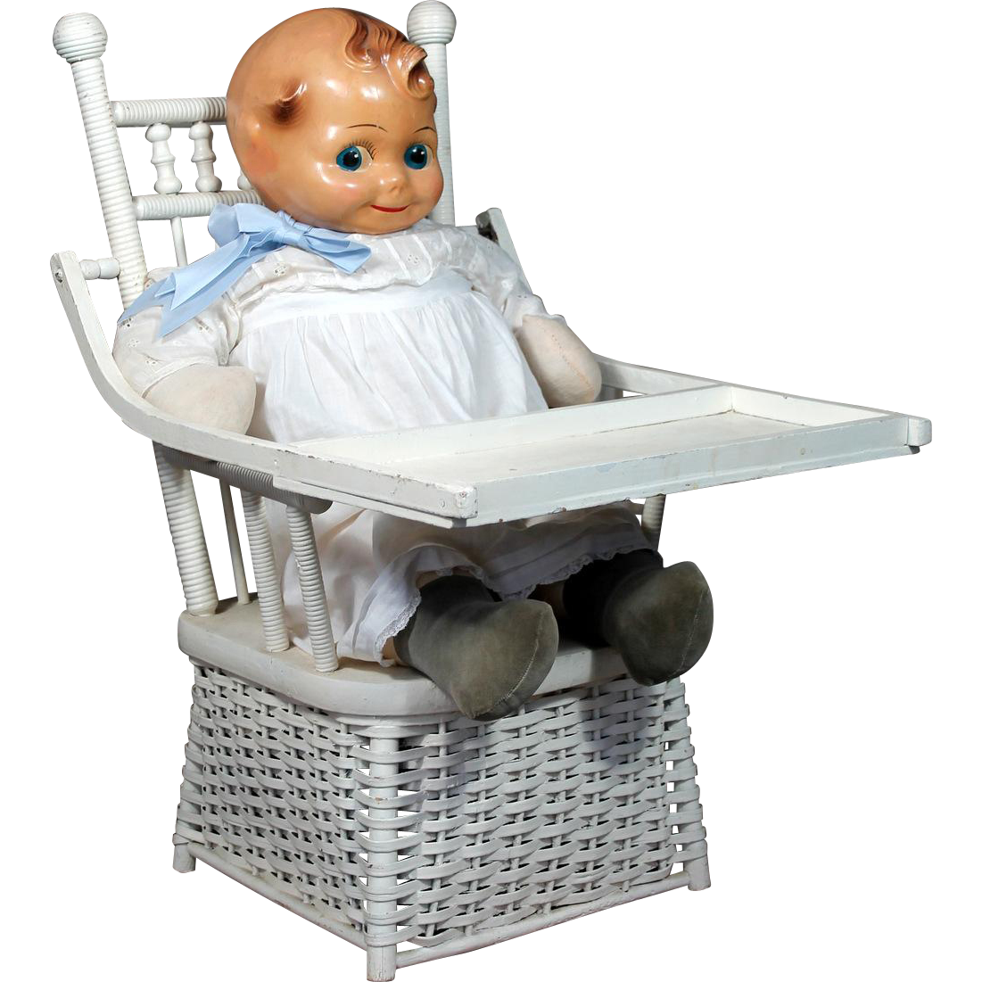 Victorian Wicker Child's Potty Chair