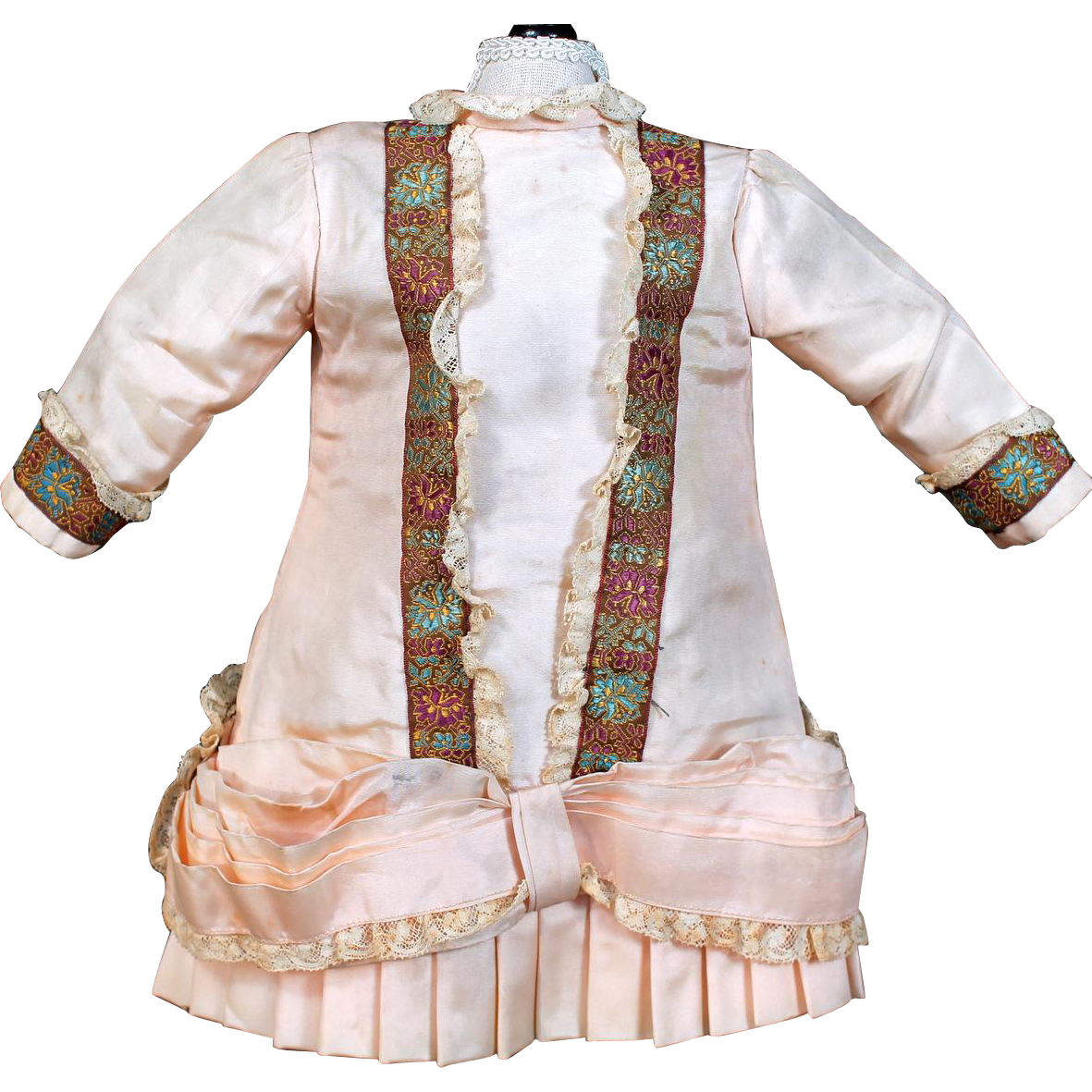 Peach Bebe Style Dress, A-line and Pleated Skirt
