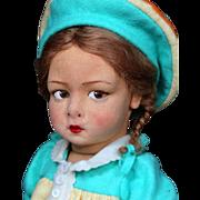 Italian Felt Character Girl Model 110 by Lenci