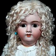 "Large 28"" Handwerck German Bisque Child Doll on Repro Body"