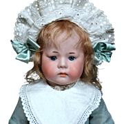 "Rare German Bisque pouty character ""Fany"" By Armand marseille"