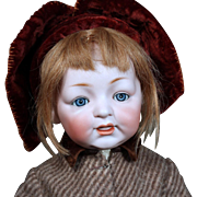 German Bisque Character toddler Samy by Kestner