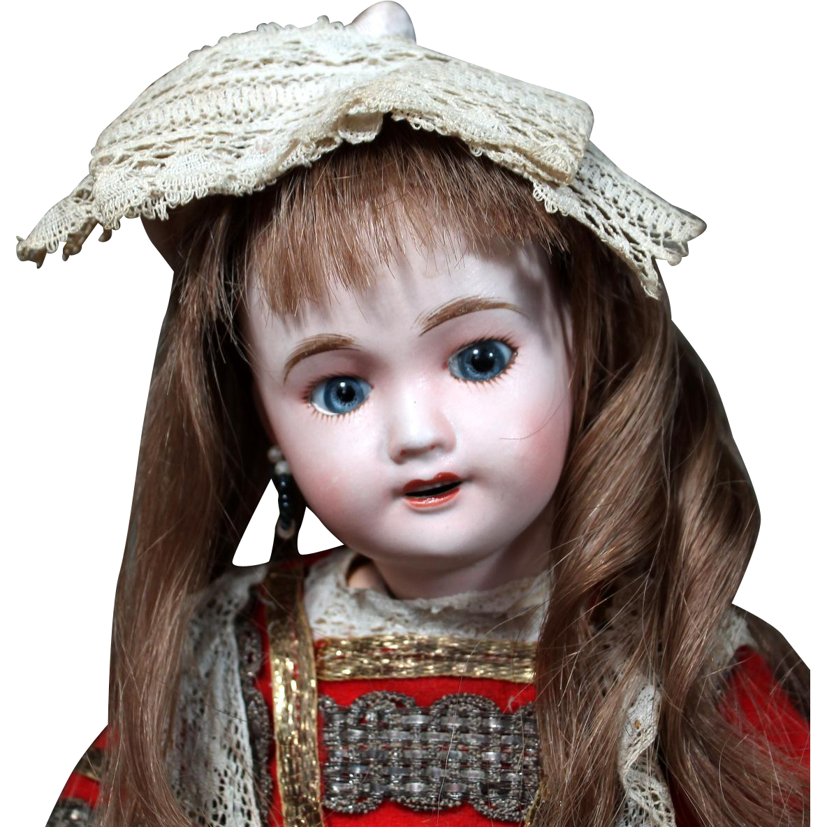 "Diminutive French Child ""Cherie"" in Antique Costume"