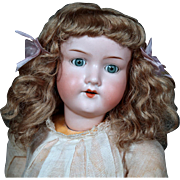 AM 390 German Doll in Factory Chemise, Shoes, Wig