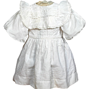 Authentic Antique Factory Cotton/Lace Doll Dress