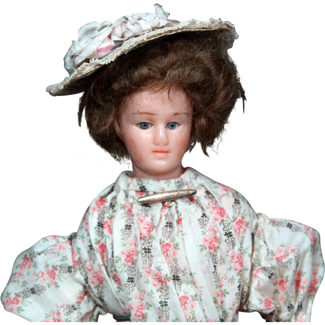 Edwardian Wax Over Lady doll 12.5""
