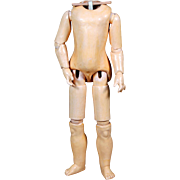 """Excellent Sonneberg Wood and Composition Body for """"Belton"""" type Dolls"""