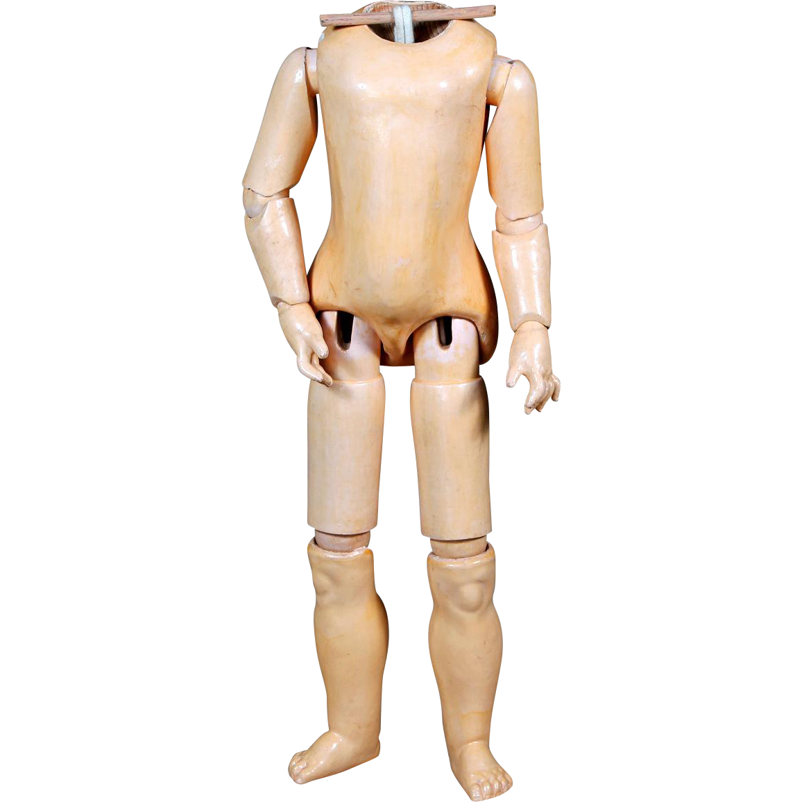 "Excellent Sonneberg Wood and Composition Body for ""Belton"" type Dolls"