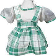 1930's Organdy/Cotton two Piece Plaid Dress