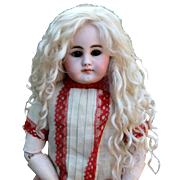Helen ~(Size 8-9) Pale Blond Mohair Wig with Side Part