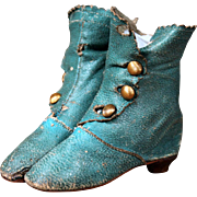 Antique French Fashion Heeled Boots
